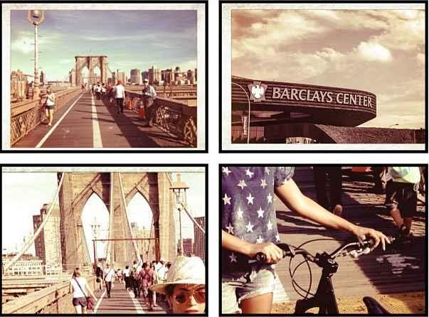 A cantora cruzou a Brooklyn Bridge, trajeto muito utilizado por ciclistas de Nova York. Foto: Reprodução/Instagram (Reprodução/Instagram)