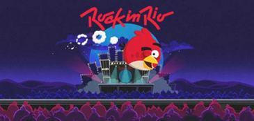 Personagens de Angry Birds invadem a Cidade do Rock em versão dedicada ao festival de música. (Rock in Rio/Divulgação)