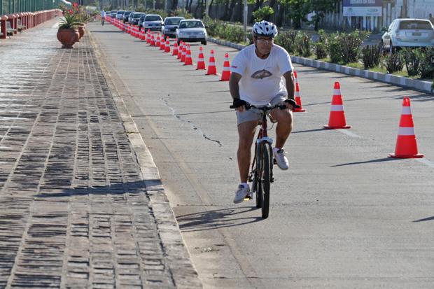 Esse fim de semana tem ciclofaixa no sábado e no domingo. Foto: Roberto Ramos/DP/D.A Press/Arquivo