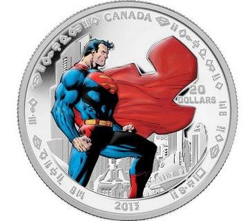 Casa da Moeda do Canadá lançou sete moedas diferentes para comemorar o aniversário do Homem de Aço. (Divulgação)