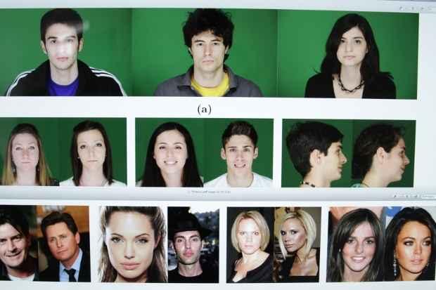 As imagens foram processadas em computador. As características dos rostos viraram representações matemáticas. Fotos: Bruna Monteiro DP/D.A Press