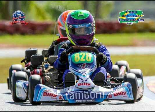 Guilherme Teixeira é tricampeão pernambucano e vencedor da categoria Cadete na Cpoa das Federações de Kart. Crédito: Carlos Teixeira/Divulgação