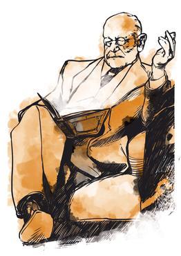 Sigmund Freud. Ilustração: Blackzebra/Editoria de arte/DP