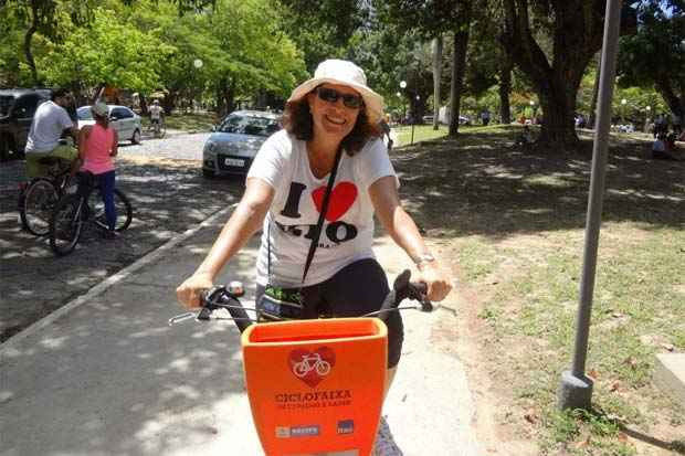 Rosana Rocha diz que se sente renovada depois da prática do ciclismo. Foto: Arquivo pessoal