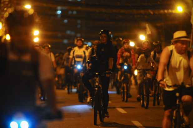 A Massa Crítica é um movimento que busca divulgar a bicicleta como meio de transporte. Crédito: Bernardo Dantas/DP/DA Press/Arquivo