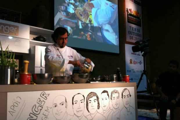 Hélio Loureiro sugeriu purê de grão-de-bico com batata doce. Fotos: Vitória Maciel/Esp. DP/D. A Press