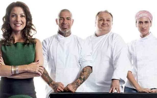 Ana Paula Padrão e a turma do Masterchef: toque refinado na gastronomia. Foto: Band/Divulgação