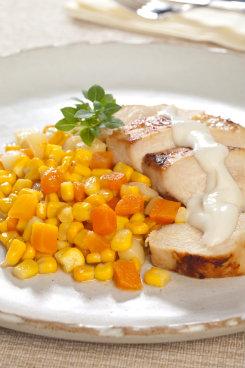 O frango pode ser preparado também para a ceia de Natal. Foto: Bonduelle/Divulgação