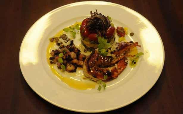 Caponata de lentilhas com camarão e polvo . Foto: Jair Amaral/EM/D. A Press