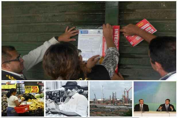 Internautas elegeram as interdições de supermercados como fato mais importante da Economia. Fotos: D.A Press