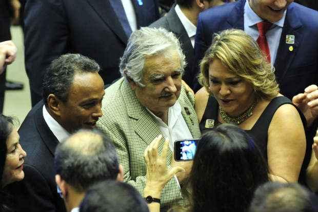 O presidente do Uruguai, José Mujica, é um dos líderes mundiais que participa da solenidade de posse no Congresso. Foto: Laycer Tomaz/Câmara dos Deputados