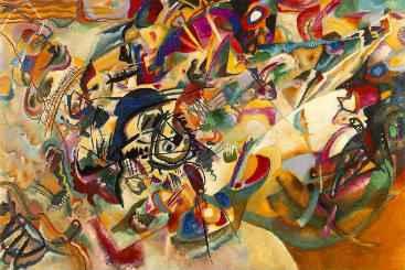 """""""Composição VII"""", de Wassily Kandinsky. Crédito: Wikipédia/Reprodução"""