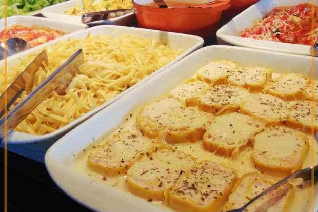 O Dom Ferreira tem buffet italiano no almoço. Foto: Facebook/Reprodução