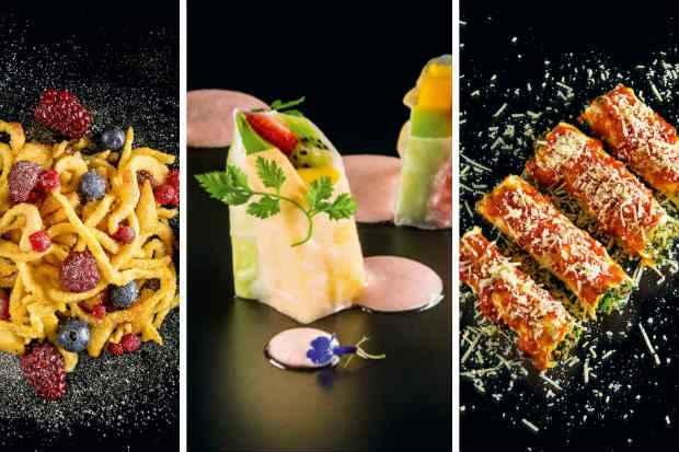Apfelspätzle, Canelone de Frutas Frescas e Canelone de Carne estão entre as sugestões. Foto: Mauro Holanda/Divulgação
