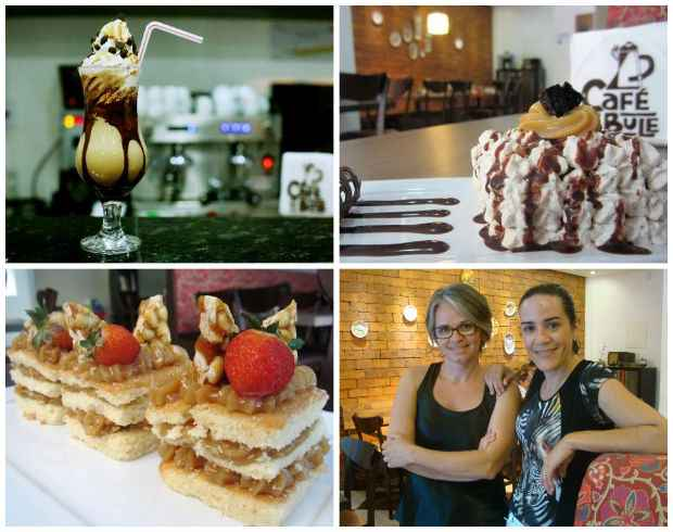 Cafés, bolos, doces... Solange e Georgia têm a preocupação de produzir tudo que é vendido na casa