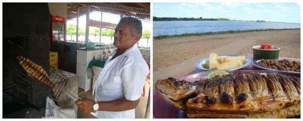 Doze quiosques, como o de Seu Zé, vendem peixes na brasa na beira do Velho Chico. Créditos: Diogo Carvalho/DP
