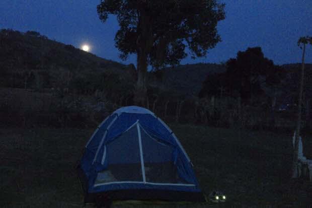 Acampamentos podem ser uma aventura romântica. Foto: Arquivo Pessoal