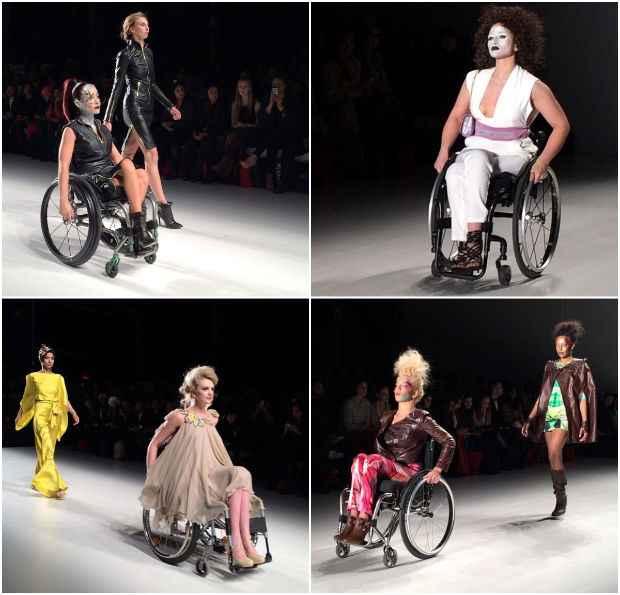 Made in Italy trouxe modelos com membros amputados e necessidades especiais ao NYFW. Foto: Instagram/@AsianInNY/Reprodução