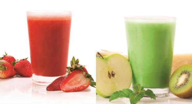 Os sucos de frutas também fazem parte da campanha. Foto: Verbo Comunicação/Divulgação