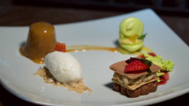 Três diferentes sobremesas serão servidas em um único prato. Foto: Paulo Higor Nunes/ Divulgação