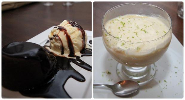 O tradicional Petit Gateau integra o cardápio de sobremesas junto à Cocada mole no sorvete de creme com raspas de limão. Foto: Júpiter Comunicação/ Divulgação