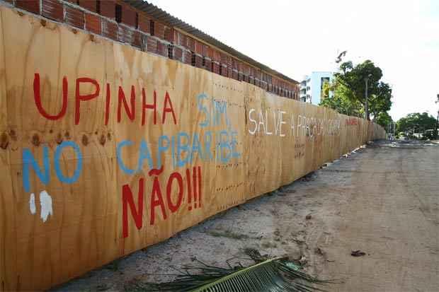 Construção da polêmica Upinha no Poço da Panela teve início no mês passado. Foto: Paulo Paiva/DP/D.A Press