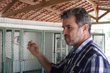 Os animais são medicados, vermifugados e castrados para depois serem colocados para adoção, explicou o gerente de vigilância ambiental e controle de zoonoses Jurandir Almeida. Foto: Rodrigo Silva/Esp.DP/D.A Press