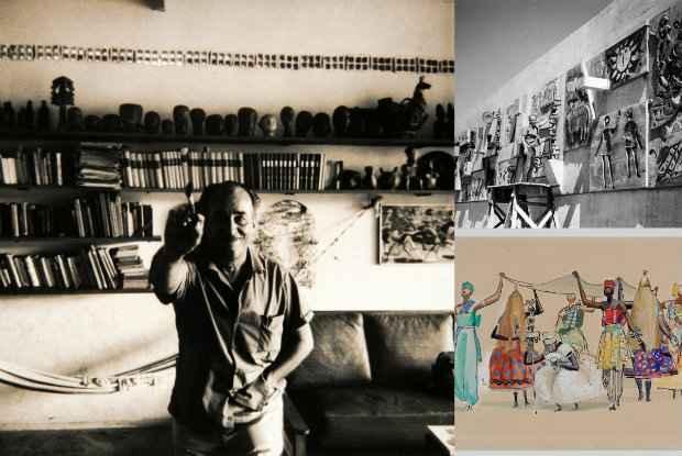 Carybé pintou obras a partir de observações entre os anos 1950 e 1970 em terreiros. Crédito: Aquarelas de Carybe/Divulgação