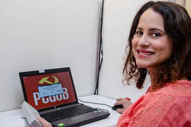 Luciana Santos é a primeira mulher presidente do PCdoB. Foto: Fifi Comunicação/Divulgação