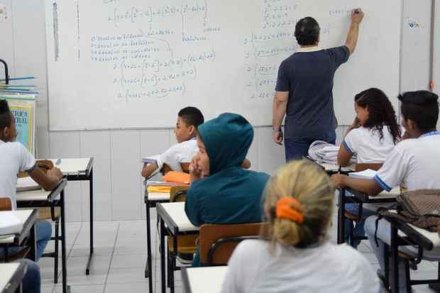 Mais estimulados devido a estratégias implementadas pelo governo estadual, estudantes abandonam cada vez menos o colégio. Foto: Guilherme Verissimo/Esp DP/DA Press.