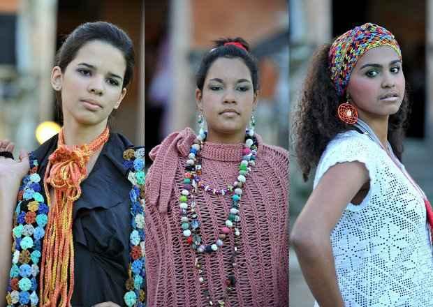 Alguns dos looks da mostra de moda do FIG. Foto: Fundarpe/Divulgação
