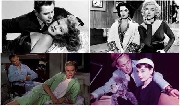 Gilda, Eles preferem as loiras, Janela indiscreta e Sabrina encabeçam a lista. Fotos: Divulgação