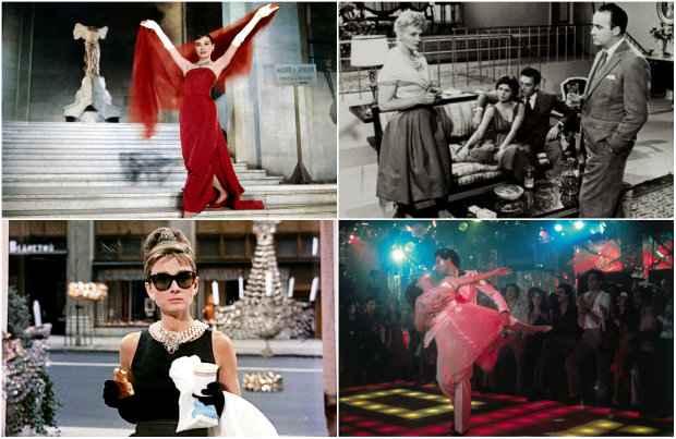 Cinderela em Paris, Moral em concordata, Bonequinha de luxo e Embalos de sábado à noite também ditaram moda. Fotos: Divulgação
