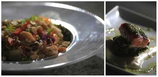 Pratos quentes também têm vez: Pad Thai e o Salmão Nara