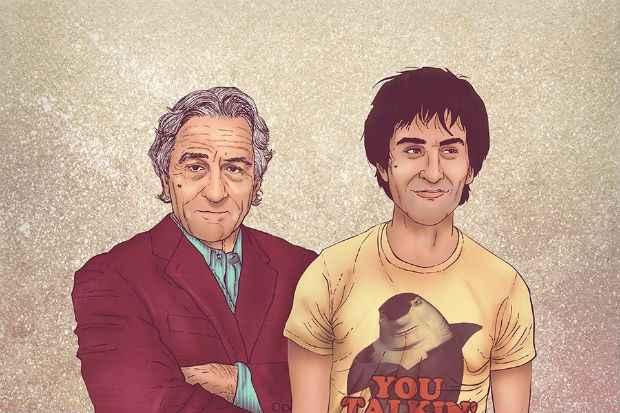 Robert De Niro e o clássico personagem de Taxi Driver foram homenageados. Foto: Facebook/Reprodução