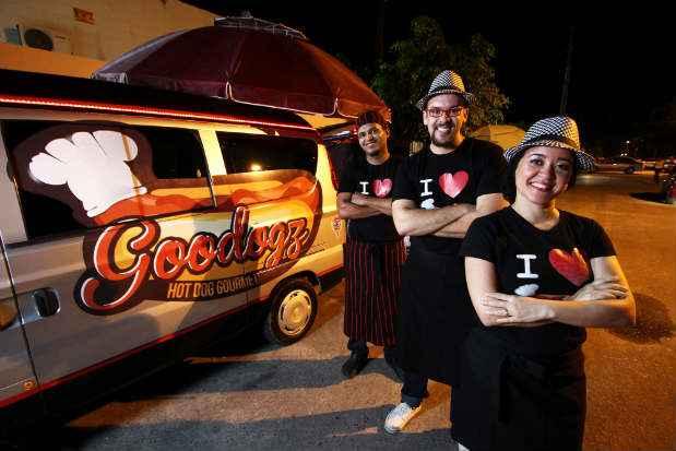 Especializado em hot dogs o Goodogz é um dos participantes do evento. Foto:Paulo Paiva/DP/D.A Press.