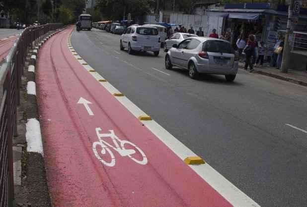 Motorista atropelou funcionários que pintavam ciclofaixa. Na foto, uma dos trechos exclusivos para bicicleta da cidade de São Paulo. Foto: Fernanda Carvalho/ Fotos Públicas/Arquivo