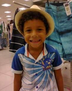 Vinícius tinha cinco anos de idade. Foto: Arquivo pessoal/Reprodução
