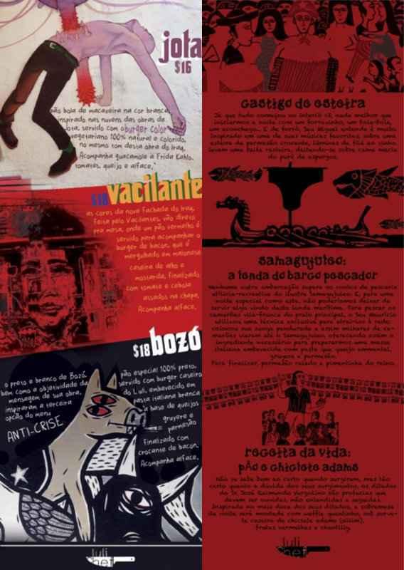 Graças à publicidade, Luiz Figueirêdo também personalisa os menus. Foto: Acervo pessoal