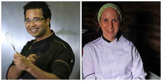 Chefs Robson Lustosa (esq.) e Luciana Sultanum são alguns dos nomes que participam do evento. Fotos: Rafael Martins/ Esp. DP/ D. A. Press eRoberto Ramos/DP/D.A Press