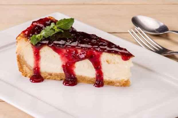 Winner Sports Bar oferece cheesecake como opção de sobremesa. Foto: Claro/Divulgação
