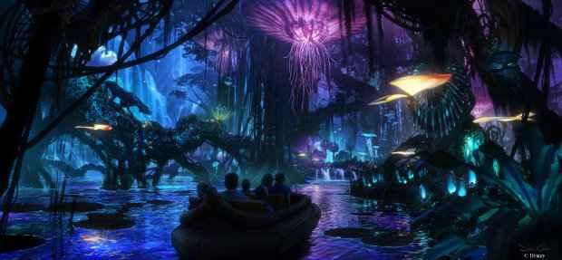 No enorme espaço do Avatar no Animal Kingdom, vai haver um passeio por entre plantas exóticas e um simulador de voo