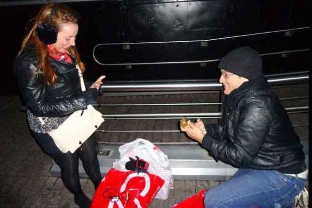 Pedro surpreendeu Raísa ao pedi-la em casamento do alto do Empire State Building, em Nova York (Arquivo pessoal)