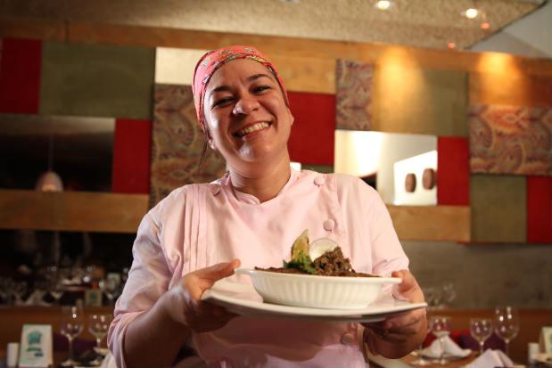 Determinada, chef passou por caminhos difíceis até conseguir reconhecimento na carreira. Fotos:Peu Ricardo/Esp. D.P