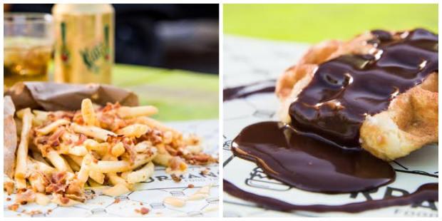 Ente as novidades estão a batata frita com pedaços de bacon e o waffle belga como opção de sobremesa