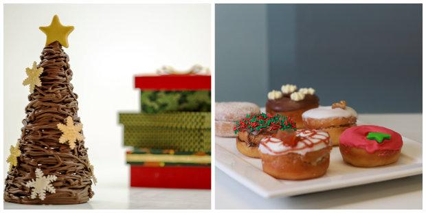 Comidas servem também como ornamentos natalinos. Fotos: Gerson Damasceno/Divulgacao e Brenda Alcântara/ Esp. DP