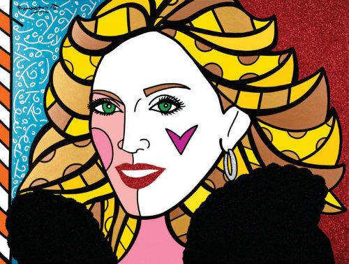 Madonna. Arte: Romero Britto