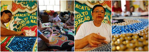 O Coração Nazareno desfila somente com mulheres e renova o estandarte a cada dois anos. Fotos: Amunam e Salatiel Cícero/Divulgação