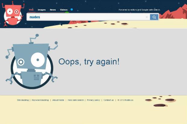 Nos resultados aparecem, prioritariamente, sites de conteúdo infantil ou de linguagem acessível às crianças. Foto: Reprodução/Página da Web.