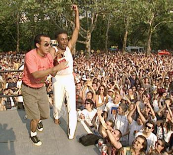 Líder da Nação Zumbi cantou com Gilberto Gil no festival SummerStage, nos Estados Unidos. Crédito: Acervo RTV/Divulgação